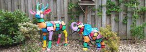 Geschilderde-beschilderde-polyester-beelden-dieren-tuinbeelden
