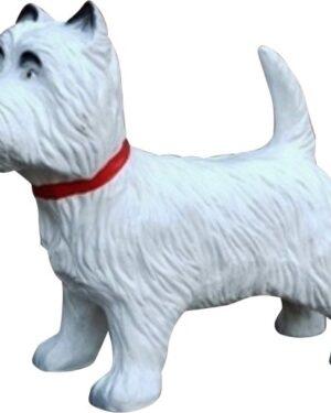 Beeldje van een West Highland white terrier