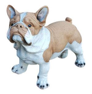 Kunststof beeldje van een bruine franse bulldog