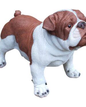 polyester beeldje engelse bulldog pup kopen bruin