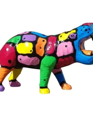 Gekleurd beeld van een nijlpaard