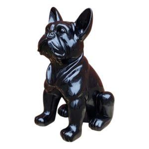 Modern zwart beeld van een franse bulldog