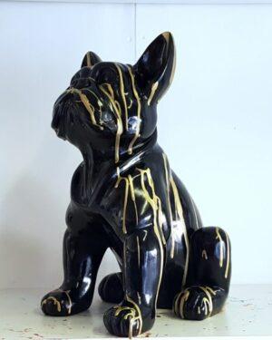 Beekdje van een zwart met gouden franse bulldog pup kopen