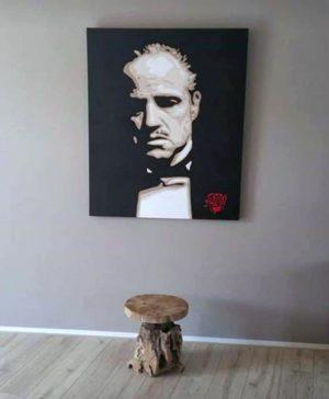 Modern schilderij Popart portret van the godfather marlon brando