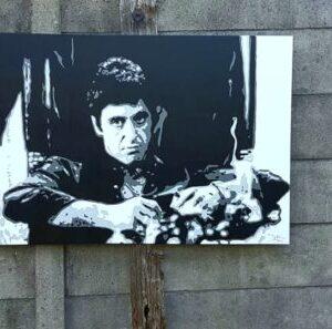 Modern schilderij Popart portret van scarface al pacino