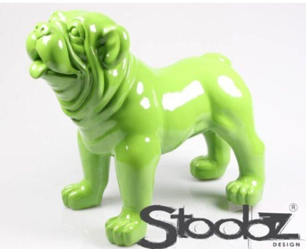 beeld Stoobz Design van een groene engelse bulldog