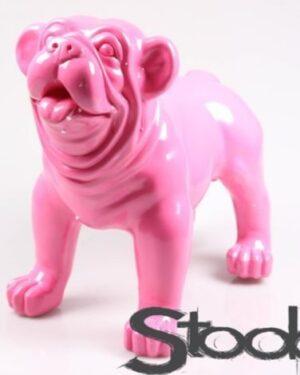 Stoobz beeld van een roze fuchsia engelse bulldog pup kopen
