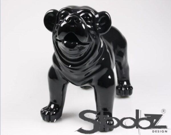 Stoobz beeld van een zwarte engelse bulldog