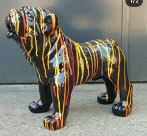 Polyester beeld engelse bulldog als decoratie in huis