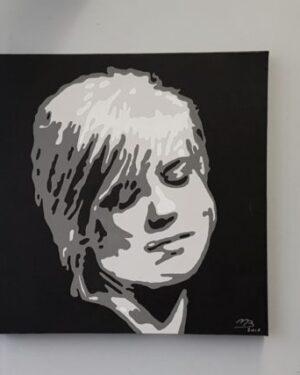 Modern schilderij Popart portret van ilse de lange