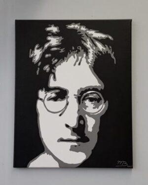 Modern schilderij Popart portret van john lennon