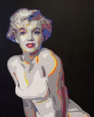 Modern schilderij Popart portret van marilyn monroe norma jean