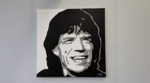Modern schilderij Popart portret van mick jagger