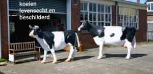 Zwartbonte polyester koeien kopen bij vrolijke beelden
