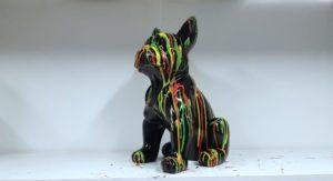 Beeldje zwarte franse bulldog pup kopen