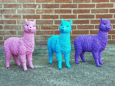 polyester beeldjes van alpaca's