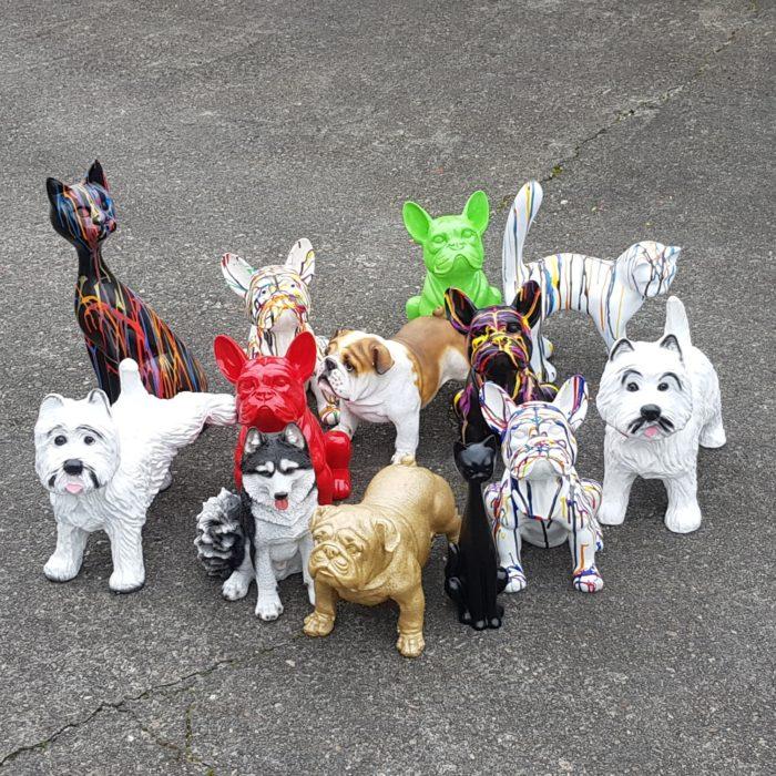 polyester beeldjes van huisdieren