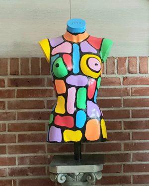 Exclusieve kunst torso's en paspoppen beschilderd door kunstenaar