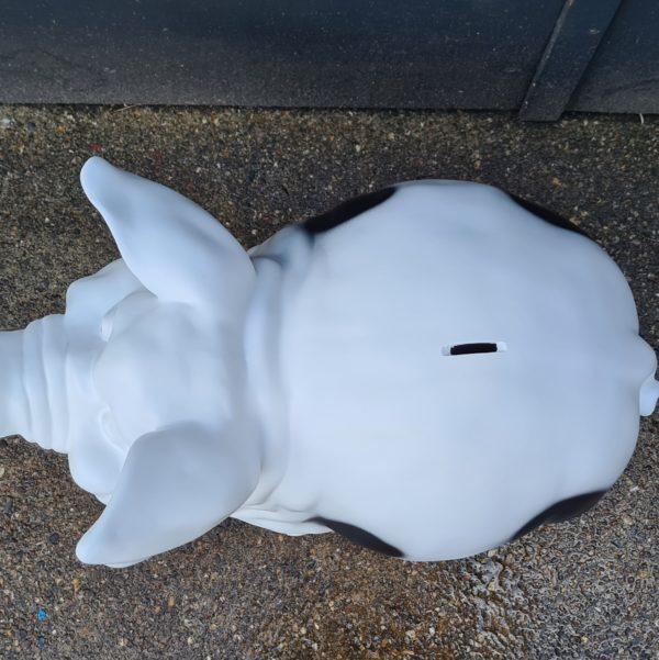 Polyester spaarpot en dierenbeelden, beeld koe, kalf, olifant, bulldog kopen bij Vrolijke Beelden