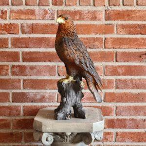 Beeld, tuinbeeld roofvogel. Grote adelaar voor in de tuin