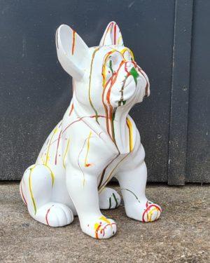 Beeld van een hond kopen. Franse Bulldog, kalf, koe kopen bij Vrolijke beelden in Almelo