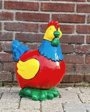 Gekleurd beeldje van een kip kopen. Kipje bestellen