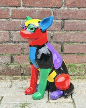 Kunststof honden bestellen en hondenbeelden online kopen bij vrolijkebeelden.nl
