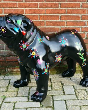 Kunststof beeld bulldog hond en hondenbeelden online kopen bij vrolijke beelden