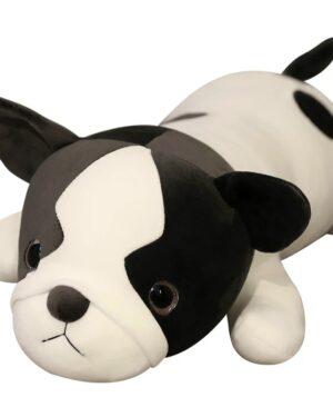 Zachte grote bulldog knuffel pluche beeld hond
